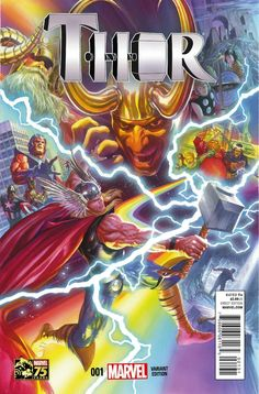 Thor #1 variant cover by Alex Ross *