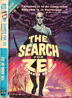 scificovers: Ace Double F-249:The Search for Zei by L. Sprague de Camp 1963. Cover art by Ed Emshwiller