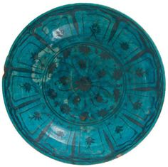 Grand plat à la rosette, Iran, Koubatcha, XVIIe siècle, D.: 34,5 cm