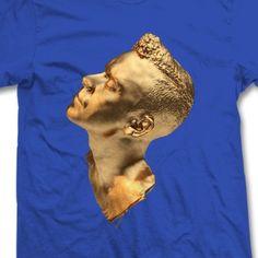Unisex Blue 'Gold Head' Tour T-Shirt - ttc2013tourtbl