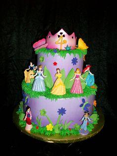 Disney Princess Birthday Cake I Made At Home For A Little Girl Who - Cakes for princess birthday