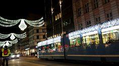 Look at the tram haha Oslo Norway Bogstadveien Christmas