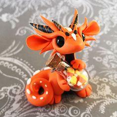 Candy Corn Jar Dragon by DragonsAndBeasties on Etsy