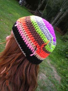 Crochet Scrap Yarn ColorfullCrochet Hat by ColorfullCrochet f2481286920