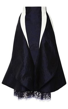 Slash Flared High Hip Skirt by Thom Browne for Preorder on Moda Operandi