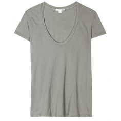 James Perse Standard T-Shirt ($106) ❤ liked on Polyvore