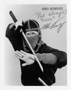 Sho Kosugi along with Sonny Chiba were the go to guys for ninja actors in the 1980's