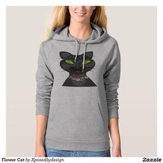 Flower Cat Hooded Sweatshirts