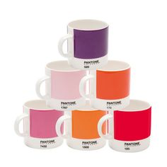 Pantone Espresso Set Of 6 Reds, $45, now featured on Fab. [Whitbread Wilkinson, PANTONE UNIVERSE]