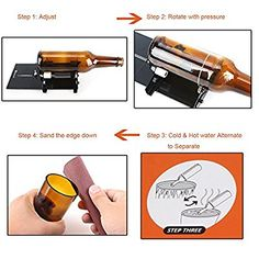 Glass Bottle Cutter, Genround Bottle Cutter Machine Wine Bottle Glass Cutter Cutting Tool