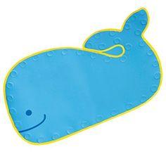 Skip Hop Moby Bathmat with Suction Base, Blue Skip Hop