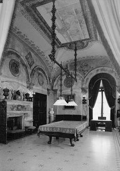 The Breakers - Billiard Room from Loggia door, looking north