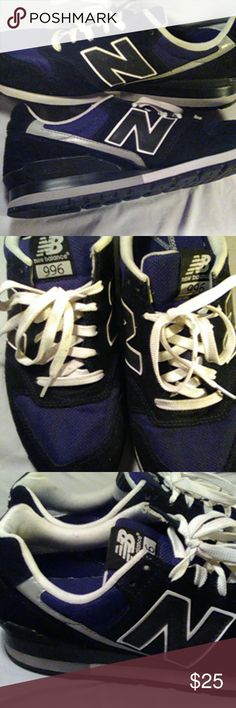 NEW BALANCE Used. Black & White Shoes Sneakers