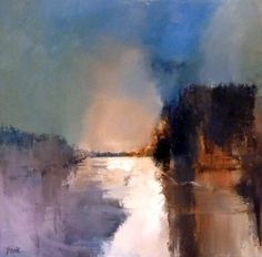 "Saatchi Art Artist Graham Pook; Painting, ""Gently as it Flows - River Spey (SOLD)"" #art"