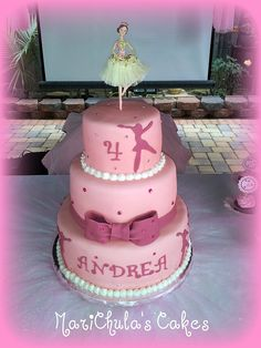 Ballerina Themed Birthday Fondant Cake