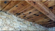 Fagerendás mennyezet Roof Lines, Loft Design, Wooden House, Pergola, Shabby Chic, Rustic, Lighting, Diy Ideas, Crafts