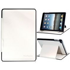 Leather White Protective iPad Mini Case | This white protective case will keep your iPad tablet safe from any damages it might receiving throughout its daily use. Made out of high quality leather to provide a stylish and durable outer protective layer for your iPad Mini. Features a self stand mechanism to easily transform into a stand or simply fold and take with you on the go. A must have accessory for all tablet users.