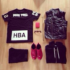Sick outfitgrid with hoodbyair hba