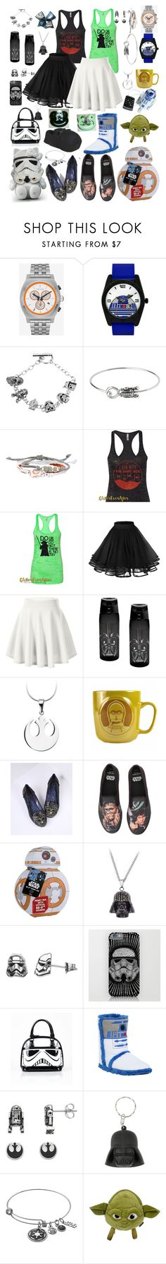 """The Dark Side has Cookies!!!"" by linnybfox ❤ liked on Polyvore featuring Hello Kitty, R2, Disney, cutekawaii, Zak! Designs, Irregular Choice, Sperry, Loungefly and Hot Topic"