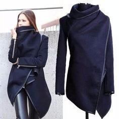 abrigo capa saco poncho irregular moda japonesa asiatica