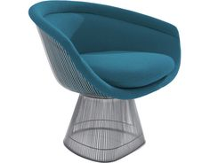Designed in 1966 by Warren Platner, the Platner Lounge Chair ($5,000) is a classic of modern design that still looks exceedingly chic in 21st century homes. Unlike many of the chairs showcased here, the Platner chair features a curvaceous, circular shape attained by welding steel wire rods to circular frames.