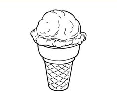this is called coloring ice cream. Ask your kid or kids to tell you what this is then ask them to color it.