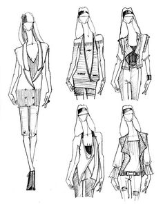 Fashion Sketches by Catie Donhauser, via Flickr