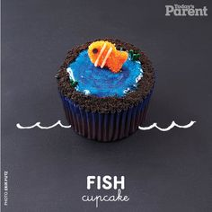 Cupcake decorating has never been simpler. Find out how to make this cute cupcake. Fishing Cupcakes, Kid Cupcakes, Yummy Cupcakes, Birthday Parties, 30th Birthday, Birthday Cakes, Todays Parent, Cupcake Recipes, Cupcake Ideas