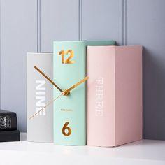 contemporary bookshelf clock by the contemporary home | notonthehighstreet.com