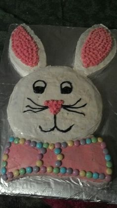 Easter bunny cutout cake