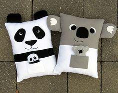 Zorro y mapache almohada juguete patrón PDF por MyFunnyBuddy
