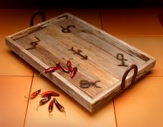 Barnwood Tray. Pretty sure I can make this! Anyone else want one while I'm at it?