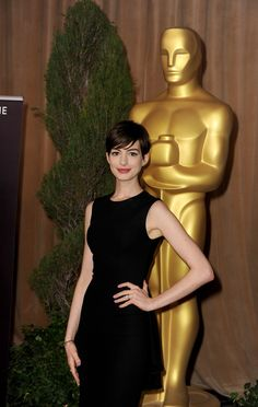 Anne Hathaway opts for a black The Row outfit for the 85th Annual Academy Awards Nominations Luncheon
