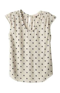 Those ikat hearts on this Rebecca Taylor top are the perfect balance between Boho chic and cutesy quaint