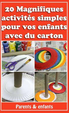 Recyclez-les en super jeux pour vos enfants ! ... Accueil Activités manuelles Carton 20 idées d'activités à fabriquer avec du carton. . | activité manuelle enfant