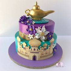 Disney Princess Cake Ideas Your kids will go crazy nac-Disney Princess Kuchen Ideen Ihre Kinder werden verrückt nach! – Disney Princess Cake Ideas Your kids will be crazy about! Disney Princess Kuchen, Disney Princess Birthday Cakes, Aladdin Birthday Party, Happy Birthday Cakes, Princess Disney, Birthday Cake Disney, Birthday Cake For Kids, 3rd Birthday, Kid Birthday Cakes
