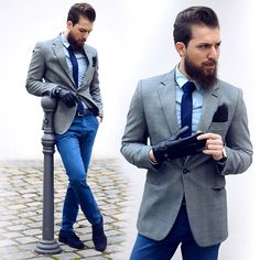 Get this look: http://lb.nu/look/6925484  More looks by Mali Karakurt: http://lb.nu/malikarakurt  Items in this look:  Asos Shirt, Tailor4 Less Blazer, Reway Jeans Chino, Reiss Shoes, August Brand Gloves   #casual #chic #dapper #outfit #blog #instagram #facebook #youtube