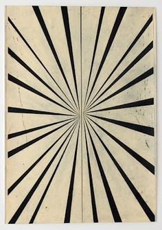 Mark Grotjahn Untitled (Black & Crea, Butterfly), 2005 colored pencil on paper 68 1/2 x 47 1/2 inches