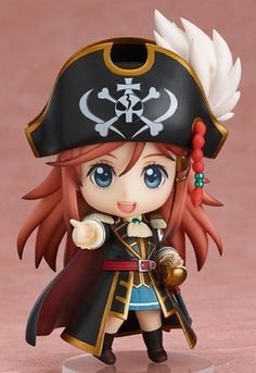 """It's Pirate Time!"" From the anime series 'Bodacious Space Pirates' comes a Nendoroid of the young high school student who ends up becoming the captain of a space pirate ship, Marika Kato! She comes with three expressions including her stan. Anime Chibi, Manga Anime, Anime Art, Bodacious Space Pirates, Party Fiesta, Anime Figurines, Fairy Figurines, Tokyo Otaku Mode, Pirate Life"