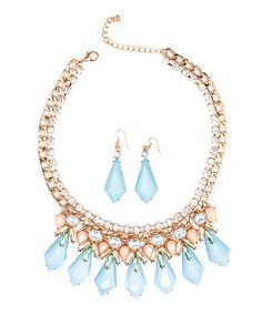Another great find on #zulily! Blue Statement Necklace & Drop Earrings…