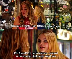 Cammie the minor lesbian :D ~ Coyote Ugly (2000) - Movie Quotes ~ #chickflicks #coyoteugly #moviequotes