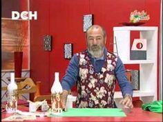 Botellas navideñas Diy And Crafts, Arts And Crafts, Christmas Crafts, Christmas Ornaments, Van Gogh, Bottle Art, Clay Pots, Diy Videos, Art Tutorials