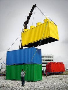 Giant Lego containers