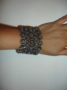 Elegant Trio Bracelet, handmade jewelry by Mariel.