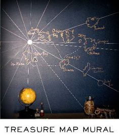 treasure map mural
