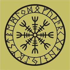 viking rune | Viking protection runes helm of awe talisman black vinyl decal