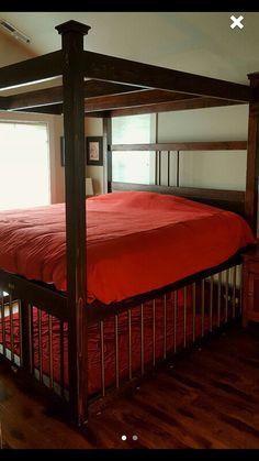King Size Bondage bed with cage by JANMARBEDSANDBONDAGE on Etsy