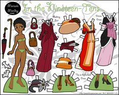 A historical fashion paper doll I did back in August 2011. Her dresses are all from between 1910 and 1915.
