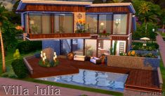 Sims My Homes: Villa Julia • Sims 4 Downloads