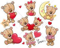 Cute Cartoon, Hello Kitty, Teddy Bear, Comics, Fictional Characters, Instagram, Teddy Bears, Comic Book, Cartoons